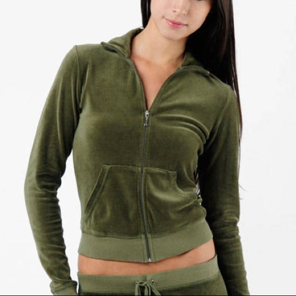 Juicy Couture Sweaters - Juicy Couture Basic Velour Hoodie
